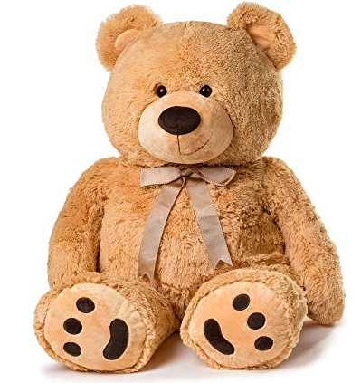 Brown plush teddy bear 02
