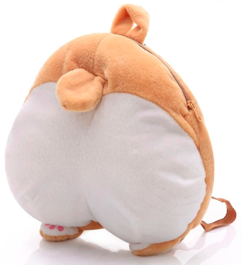 Cute Corgi Butt plush Backpack