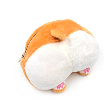 Kawaii Plush Corgi butt coin Purse