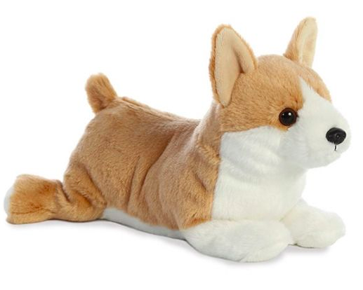 Plush Corgi cuddle pillow toys01