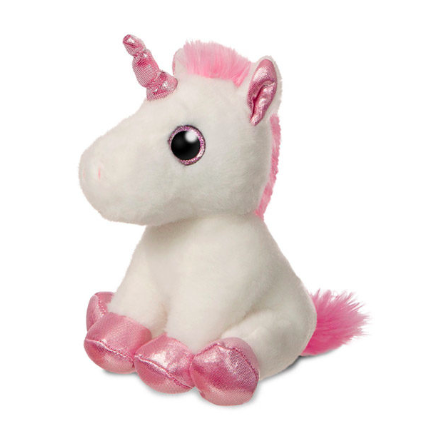 plush white unicorn toy