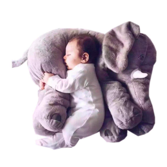 grey big plush elephant