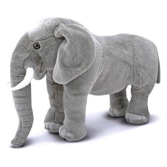 grey plush standing elephant toys