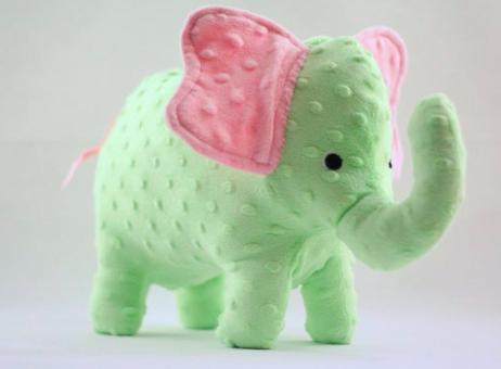 light green plush elephant toys
