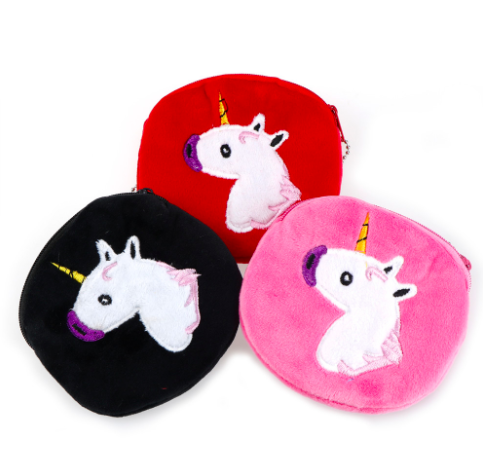 Plush Unicorn coin purse