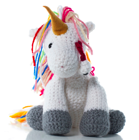 plush crochet unicorn